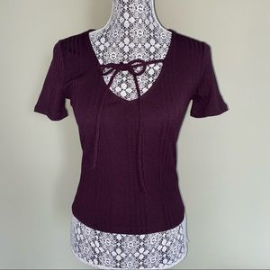 Forever 21 Cutout / Tie Up Top